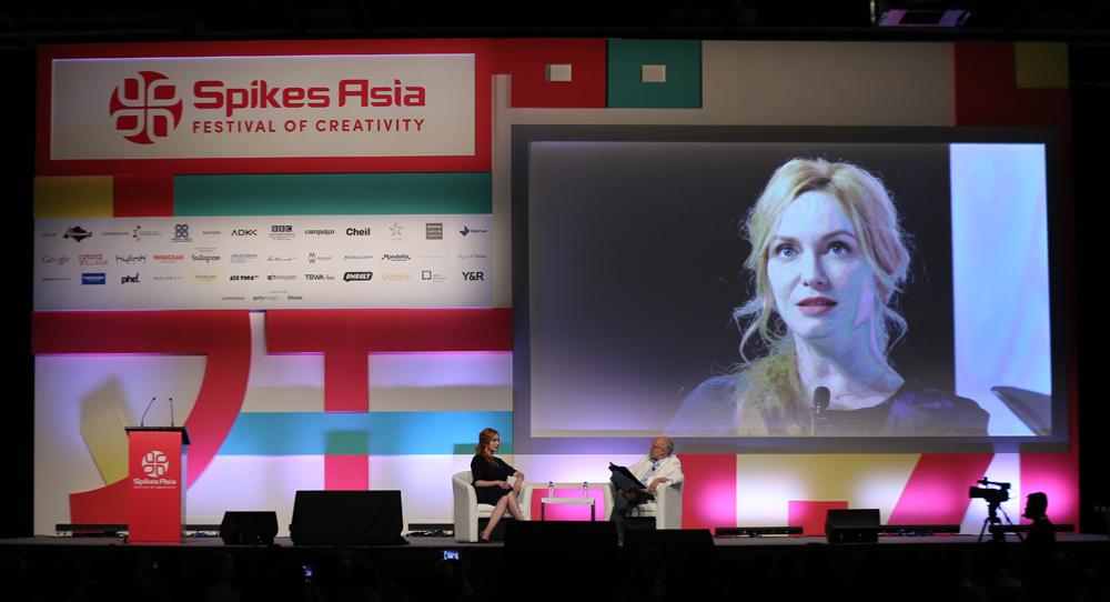 Actress Christina Hendricks and Gordon Bowen, Founder, Global Chairman & Chief Creative Officer, mcgarrybowen.