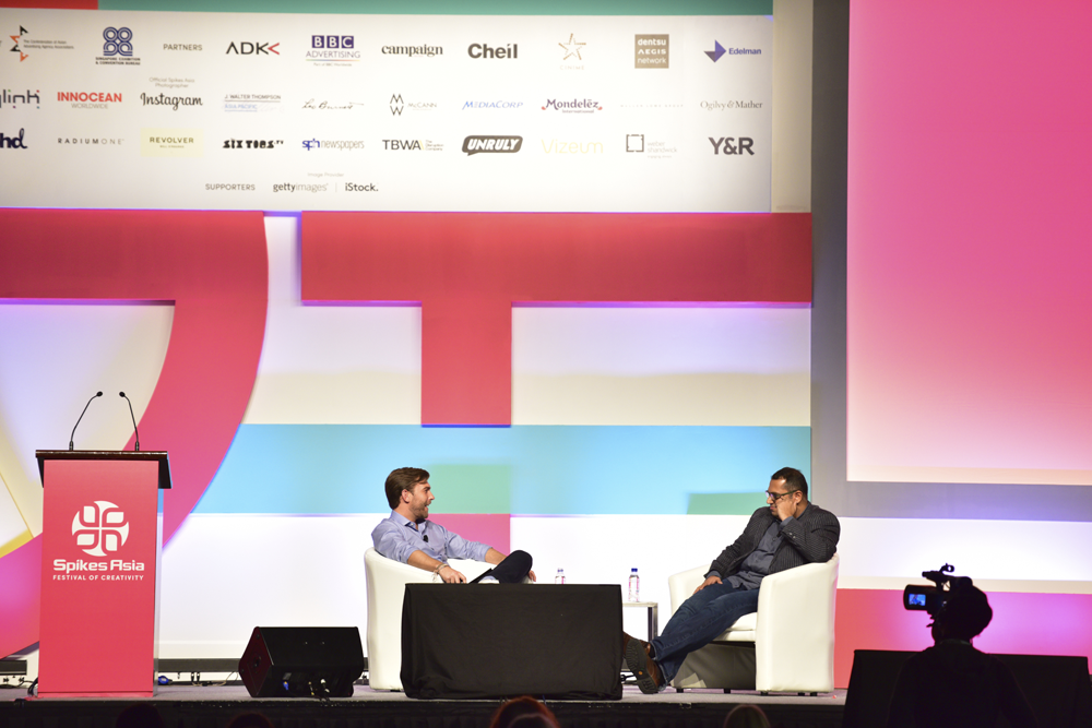 From left: Sven Huberts, Managing Director, Asia-Pacific, Isobar and Pratik Thakar, Leading Creative Content and Design Excellence APAC & ASEAN, The Coca-Cola Company.
