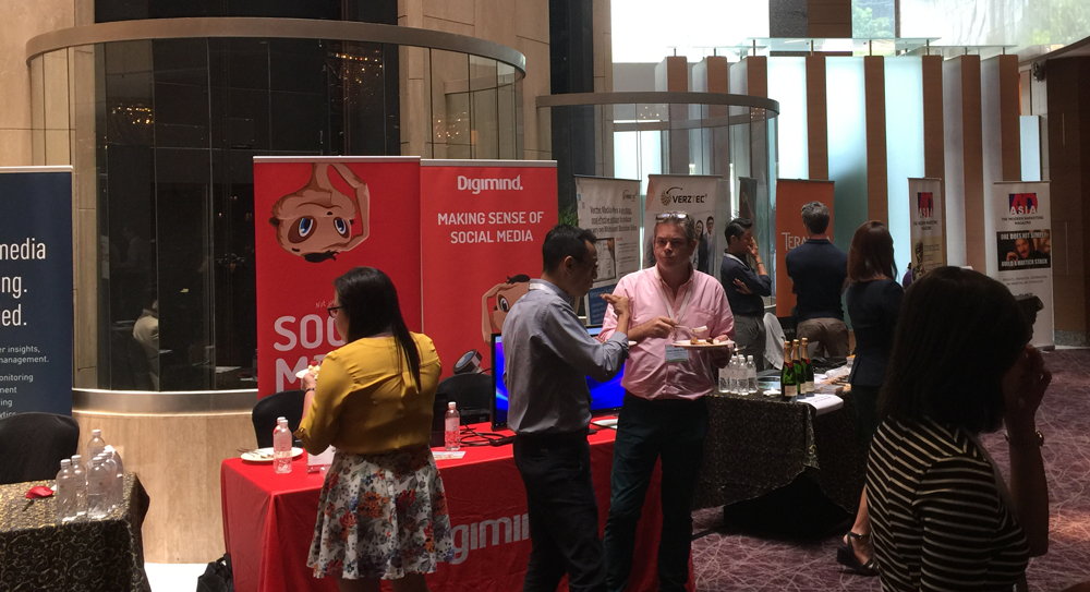 The DMWF sponsor area with the Digimind booth.