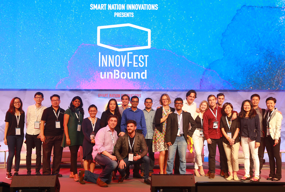 Barbara Guerpillon with Unilever Start-up Battle finalists